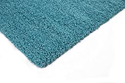 Sweet Home Stores Cozy Shag Collection Turquoise Solid Shag Rug, 5\'0\
