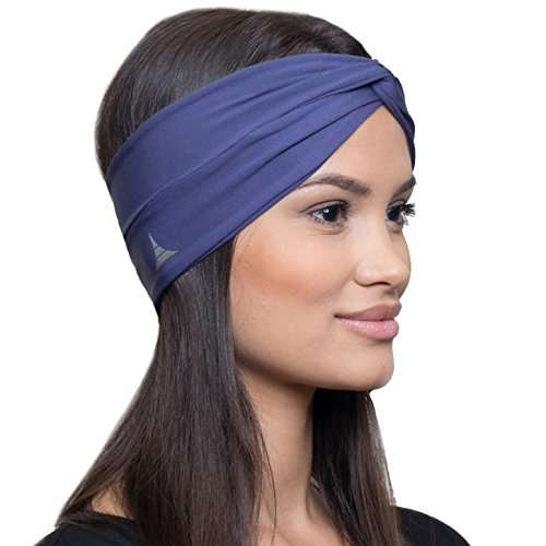 French Fitness Revolution Moisture Wicking Turban Headband for Sports, Running, Workout and Yoga, Insulates and Absorbs Sweat, Women Hair Band