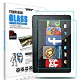Fire 7 2017 Screen Protector, Fire HD 7 Screen Protector, Zenic Anti-fingerprint Tempered Glass Bubble Free 9H Hardness Screen Protector for Fire 7-7th Generation 2017 Release(Fire 7--7 inch, 2 Pack)