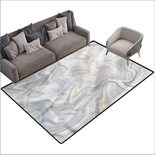 Large Floor Mats for Living Room Colorful Marble,Nature Stone Paintbrush 80