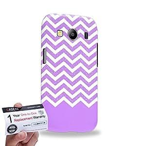 Case88 [Samsung Galaxy Ace 4 LTE G357] 3D impresa Carcasa/Funda dura para & Tarjeta de garantía - Art Fashion Violet Glitter Chevron
