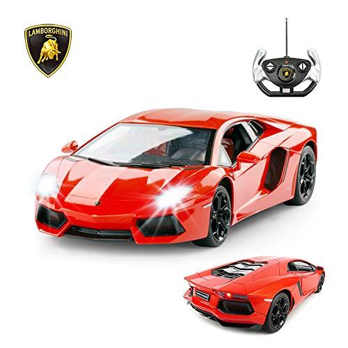 RASTAR RC Lamborghini Toy Car, 1:14 Lamborghini Aventador LP700-4 Remote Control Car, Working Lights - Orange (Best Lamborghini Rc Car)