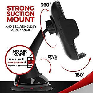 Wireless Car Charger Mount 2-in-1 Qi Charging Holder - Fast Charge Stand For iPhone X 8 Plus Samsung Galaxy S9 S8 Plus Note 8 LG Cars Kit With Quick USB Portable Dock And Best Q1 Cell Phone Dash Set