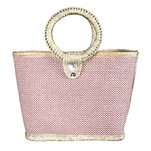 TierrAmor Natural Palm Clutch Purse- Boho Straw Handbag - Vegan Handmade In Mexico -Ethnic ()