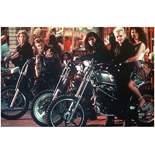 The Lost Boys cast in a row on motorcycles 8 x 10 Inch (Lost Cast Photo)