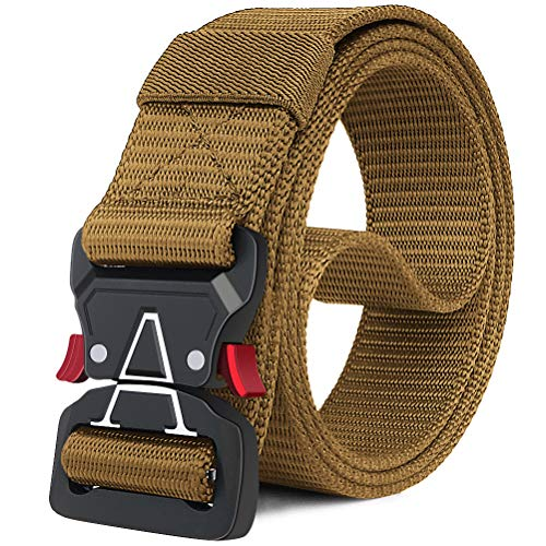 Fairwin Tactical Belt, Military Style Webbing Riggers Web Belt with Heavy-Duty Quick-Release Metal Buckle(M 36