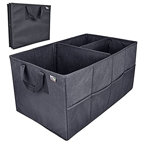 Car Trunk Storage Organizer; MIU COLOR Collapsible Cargo Storage Containers for Car, Truck, SUV; Strap Handle, (Sub Cargo Organizer)