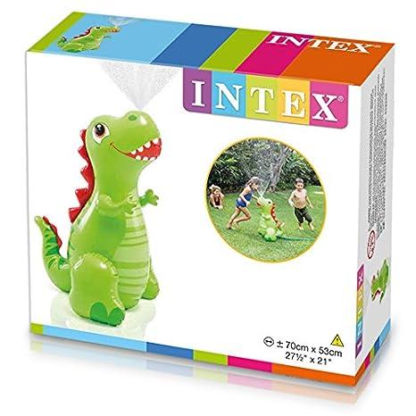 Intex aufblasbarer Dino Sprayer für den Gartenschlauch 70cm x 53cm Wassersprüher Kinderbadespaß