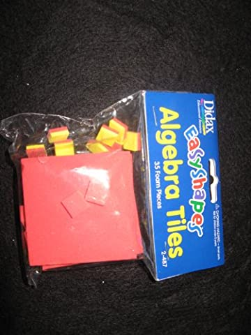 Didax Educational Resources Easyshapes Algebra Tiles (35 Piece) - Algebra Tiles Student Set