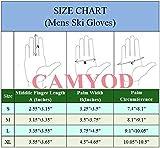 CAMYOD Men Waterproof Skiing Snowboarding Gloves