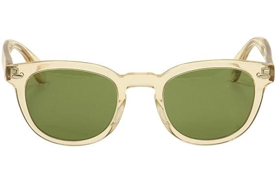 48ecf8af844f Amazon.com  Oliver Peoples Unisex Sheldrake Sun Buff Green Vintage  Clothing