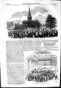 BAZAR 1853 DEL FRANQUEO DEL PENIQUE DE SHAKESPEARE STRATFORD-ON-AVON