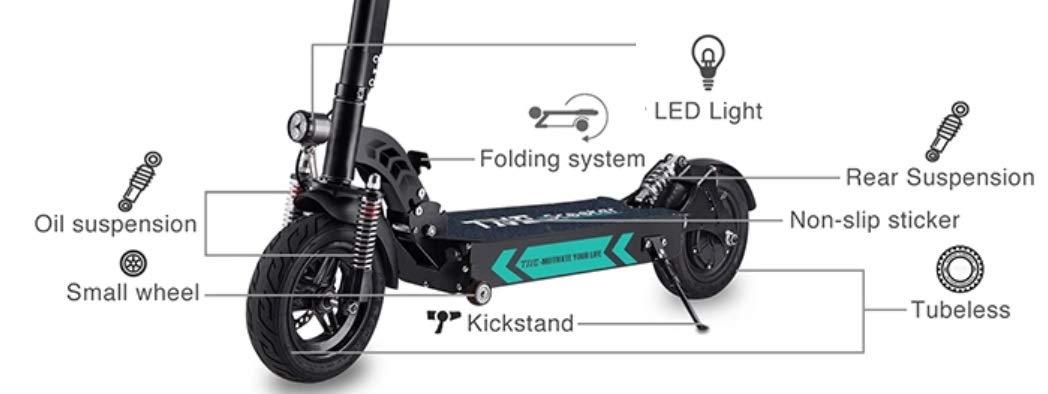 Amazon.com: TNE Scooter eléctrico 10 pulgadas 52V 1300W ...