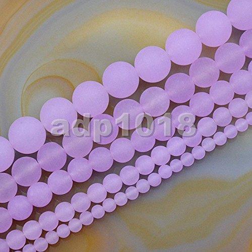 AD Beads Matte Jade Round Gemstone Loose Beads 15.5