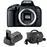 Cheap Canon EOS Rebel T7i DSLR Camera (Body Only) with Vello BG-C15 Battery Grip for Canon Rebel and Journey 34 DSLR Shoulder Bag (Black)