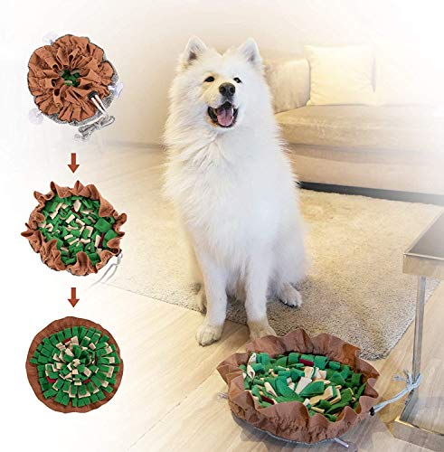 TMYIOYC Snuffle Mat for Dogs, Dog Puzzle Toys, Interactive Feed Game for Boredom, Encourages Natural Foraging Skills for Small Dogs, Dog Treat Dispenser Indoor Outdoor Stress Relief