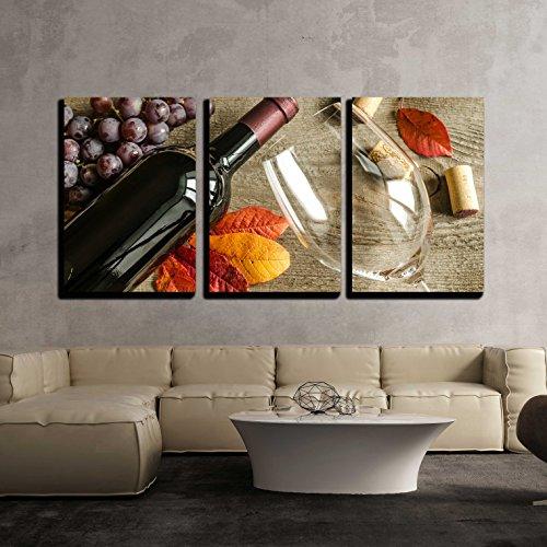 Red Wine x3 Panels