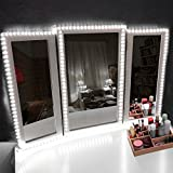 diy corner makeup vanity table LED Vanity Mirror Lights Kit Make-up Mirror Light Strip for Vanity Dressing Table, Dimmer, UL Certified Power Supply, Daylight, DIY Hollywood Style Mirror Light 13foot/4Meter Daylight White 6000K