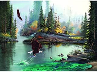 product image for SUNSOUT INC River Eagles Jigsaw Puzzle