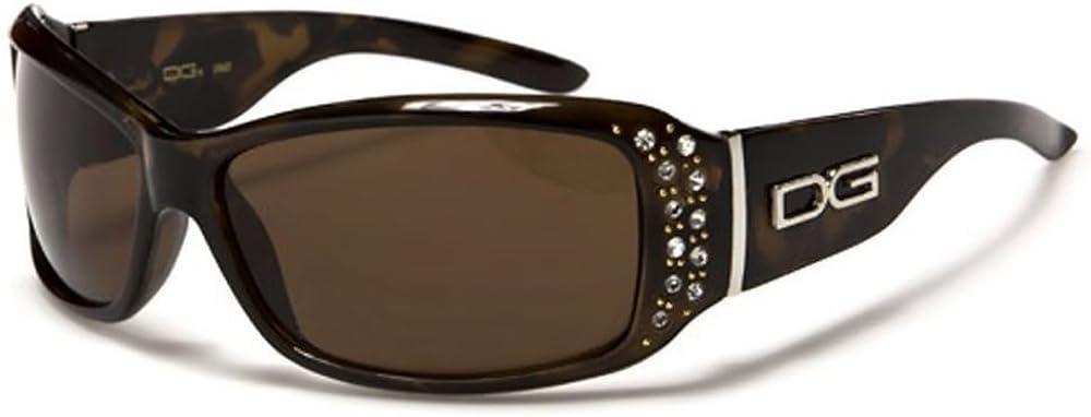 DG Eyewear Designer Celebrity Women/'s Ladies Oversize Rhinestone Sunglasses