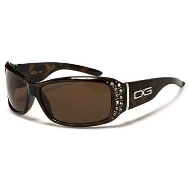 48ed21c8c15 DG Eyewear ® Fashion Sunglasses (Women) 2016 - Designer Brown Rhinestone  Diamante Fashion Shades