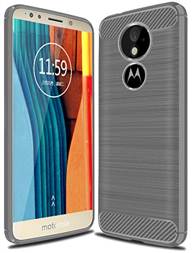 Moto E5 Plus Case,Moto E5 Supra Case, Suensan TPU Shock Absorption Technology Raised Bezels Protective Case Cover for Motorola Moto E5 Plus smartp Hone (TPU Gray)