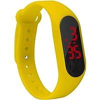 LED-Screen Display Kinderen Thin digitale horloge Student Fitness Polsband Boy Girl Sports Supplies Geel 240 * 15mm