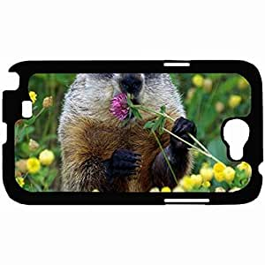 New Style Customized Back Cover Case For Samsung Galaxy Note 2 Hardshell Case, Back Cover Design Beaver Personalized Unique Case For Samsung Note 2