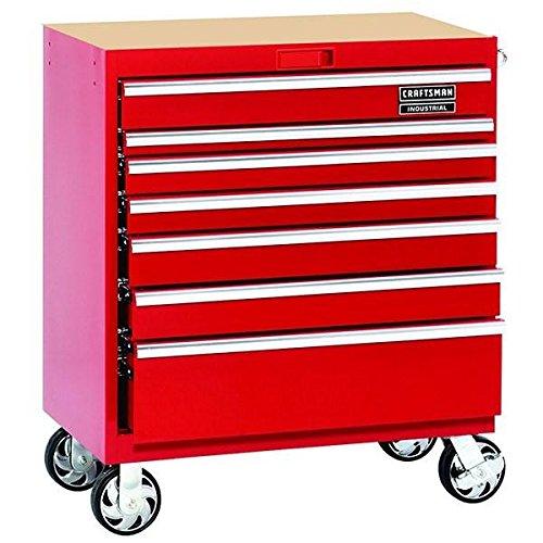 Craftsman Cart - Craftsman Industrial 7000 Series 7 Drawer Rolling Cart, 36