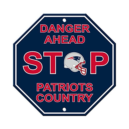 Signe Collection - Fremont Die NFL New England Patriots Stop Sign