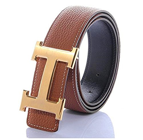 Men Business Casual Leather Belt Wide