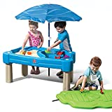 Step2 Cascading Cove Sand and Water Table (Deluxe Pack: Includes Umbrella & Accessories)