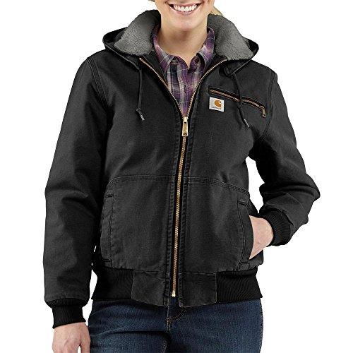 Carhartt Women's Weathered Duck Wildwood Jacket, Black, X-Small