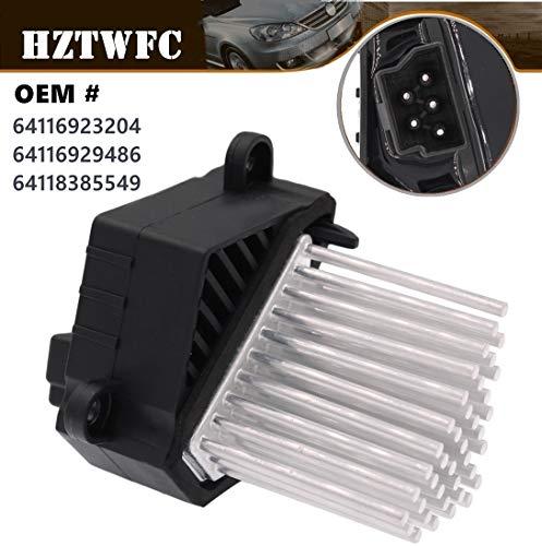 (HZTWFC Heater Blower Motor Resistor 64116923204 64116929486 64118385549 Compatible for BMW E39 E46 X 3 X5)