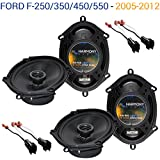 Fits Ford F-250/350/450/550 2005-2012 OEM Speaker Upgrade Harmony (2) R68 Package New