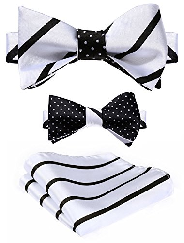hisdern-mens-striped-double-sided-jacquard-self-bow-tie-set-one-size-black-white