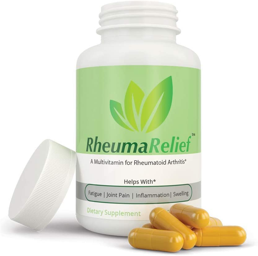 RheumaRelief – Natural Pain Relief Multivitamin for Arthritis with Turmeric, Vitamin B12, Ginger, Folic Acid, Vitamin D, Magnesium, Boswellia, Quercetin- Rheumatoid Arthritis and Osteoarthritis .03oz