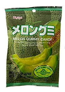 Kasugai Gummy Candy, Melon, 3.59 Ounce Packages (Pack of 12)