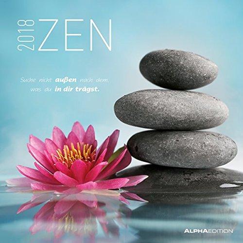Calendario de pared «Zen» 2018de 30x 30cm Alpha Edition 18.0116