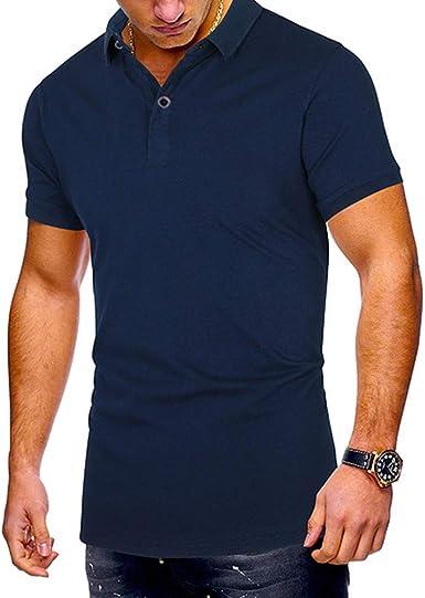 Mr.BaoLong&Miss.GOgo Hombres Polos Camisetas De Hombre Camisetas De Manga Corta De Color Sólido Se Pueden Personalizar Registro Multicolor Casual Algodón De Gran Tamaño: Amazon.es: Ropa y accesorios