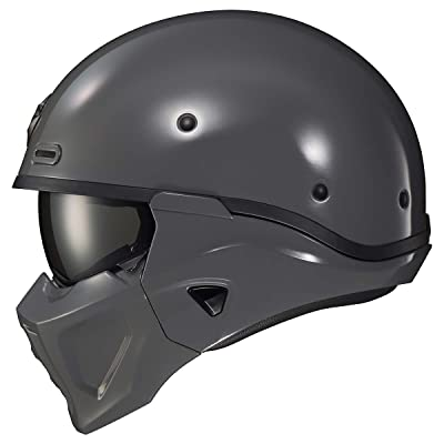 Scorpion Covert X Solid Adult Street Motorcycle Helmet - Cement Grey/Small: Automotive