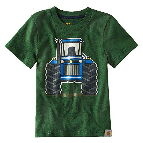 (Carhartt Big Boys' Short Sleeve Tee, Tractor Green, 6)