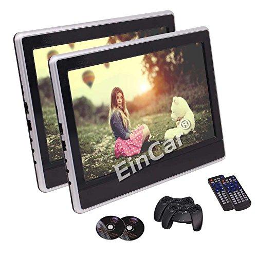 Car DVD Portable Player Eincar Twin Screen Headrest Monitor With 11.6 Inch HD con 1366768 Resolution TFT LCD Screen Support USB SD IR & FM Transmitter HDMI With Remote Control -  Wandou Trade Co. Ltd., yNJ.1206DV-3