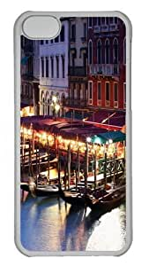 TYHde ipod Touch4 Case, ipod Touch4 Cases -Venice Italy Boat Custom PC Hard Case Cover for ipod Touch4 Transparent ending Kimberly Kurzendoerfer