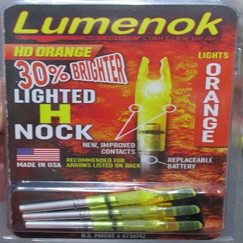 Lumenok H Nock (3-Pack), HD Orange