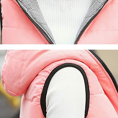 Manteau Tops Hiver Solide Femme Longue Blouse À Hoodie Sweatshirt Capuche Shobdw Poche Manche Rose Mode Avec Blouson Veste Pullover Txd0wSn