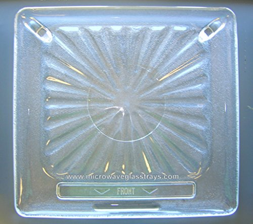 "Vintage Pre Owned Amana RadaRange Microwave Glass Plate 14 1/2"" X 13 5/8"""