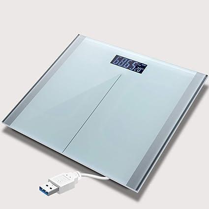LIYAN Báscula Digital Recargable, báscula de detección automática del Cuerpo, báscula de baño para