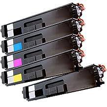 5 Inkfirst® Toner Cartridges TN336BK, TN336C, TN336M, TN336Y Compatible Remanufactured for Brother TN-336 Black, Cyan, Magenta, Yellow (1 Set + 1 Black)