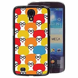 A-type Arte & diseño plástico duro Fundas Cover Cubre Hard Case Cover para Samsung Galaxy Mega 6.3 (Girl Pattern Fashion White Red)